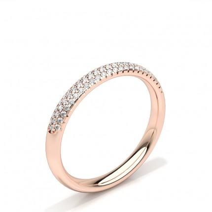 Zinkeneinstellung runder Diamant-Ehering der Frauen