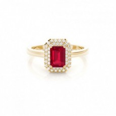 Emerald Ruby Engagement Rings