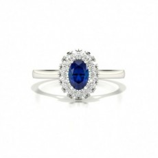 Oval Sapphire Diamond Engagement Rings