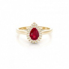 Yellow Gold Ruby Engagement Rings