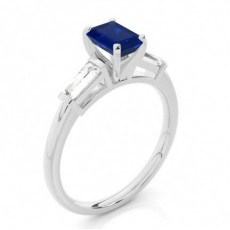Emerald Sapphire Diamond Rings