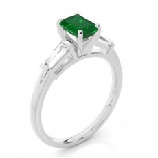 Emerald Emerald Diamond Rings