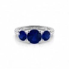 Round Sapphire Engagement Rings