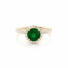 Round Emerald Rings