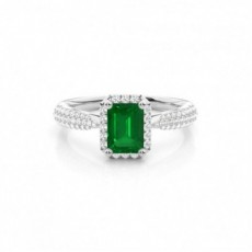 Platinum Emerald Rings