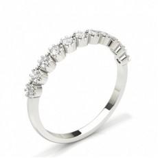 Silver Bagues d'éternité En Diamant