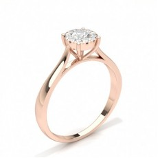 Rose Gold Diamond Engagement Cluster Rings