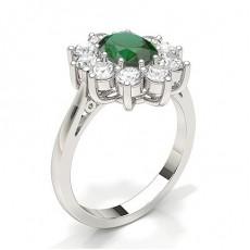 Oval Smaragd Diamantringe
