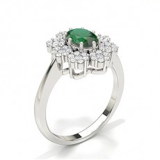Oval Emerald Rings