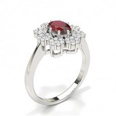 Oval Rubin Diamantringe