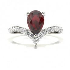 Tropfen Rubin Diamantringe