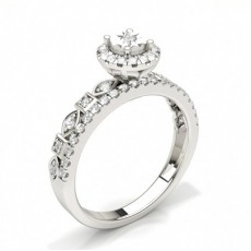 White Gold Halo Engagement Rings