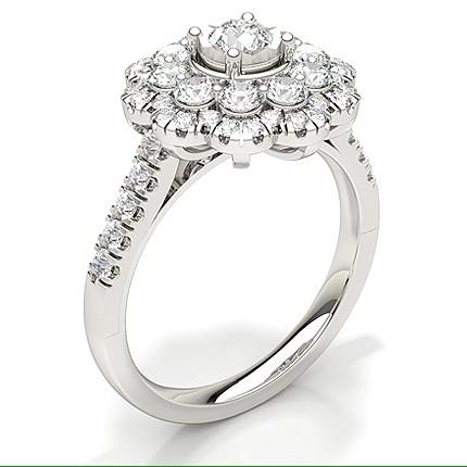 Share Setting Round Diamond Bridal Set Engagement Ring