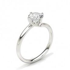 Platinum Classic Solitaire Diamond Engagement Rings