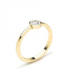 Or Jaune Délicate Bague Diamant