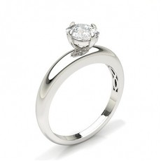 Cushion Classic Solitaire Engagement Rings