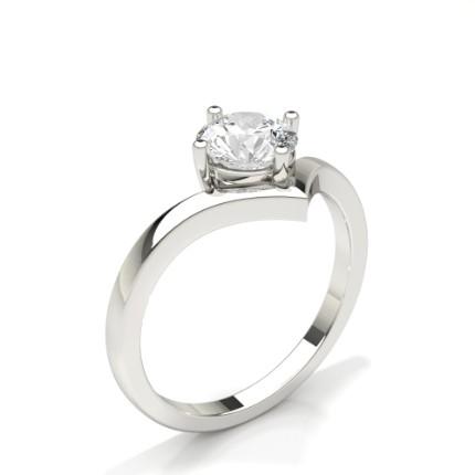Solitaire Diamond Verlobungsring mit Zinkeneinstellung