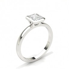 Radiant Classic Solitaire Engagement Rings