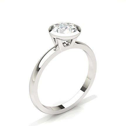Bezel Setting Solitaire Diamond Engagement Ring