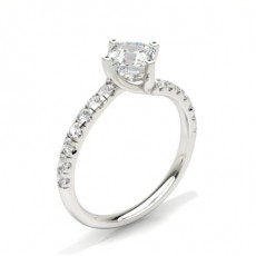 Asscher Side Stone Engagement Rings