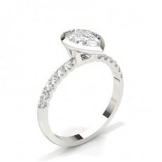 Tropfen Seitenstein Diamantringe