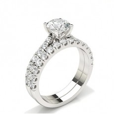 Asscher Bridal Diamond Engagement and Wedding Ring Sets