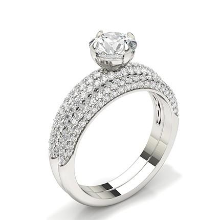 Bague de fiançailles en or blanc et diamants