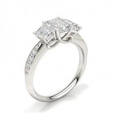 Radiant Diamond Rings Three Stone