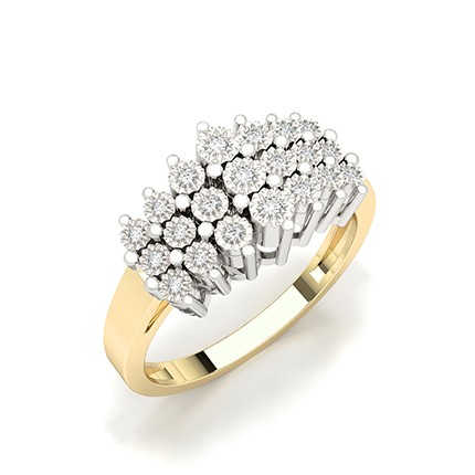 Illusion Plate Setting Round Diamond Fashion Ring
