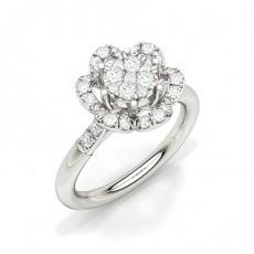 Or Blanc Illusion Bague Diamant