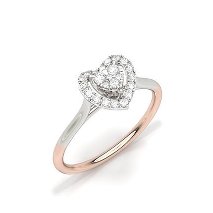 Zinkeneinstellung runde Diamant Alltagsringe