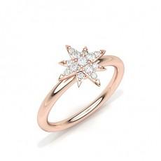Or Rose Bagues en diamant pour tous les jours