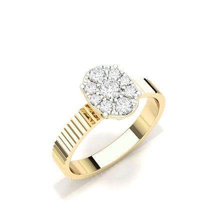 Micro Prong Set Diamond Cluster Ring