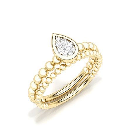 Invisible Setting Round Diamond Everyday Ring