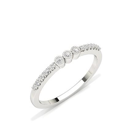 Lünette Einstellung runder Diamant-Alltagsring