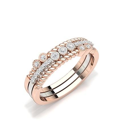 Bezel Setting Round Diamond Everyday Ring
