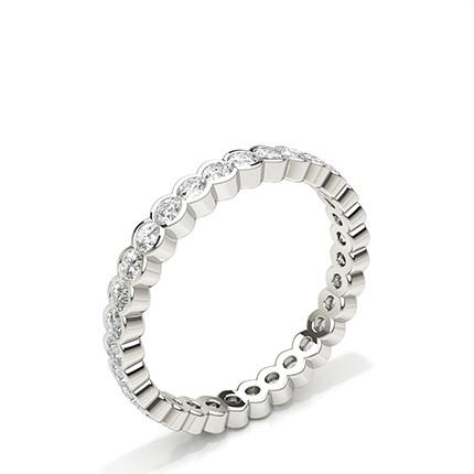 Bezel Setting Round Diamond Full Eternity Ring