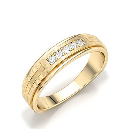 Micro Pave & Micro Krappenfassung runder Diamant Ehering