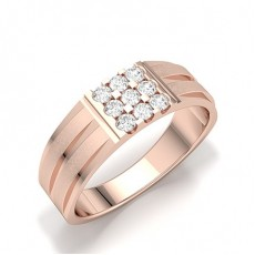 Bagues En Diamant Pour Homme En Or Rose