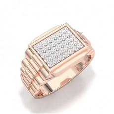 Rose Gold Men's Diamond Rings
