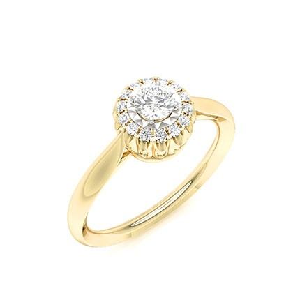 Illusion Plate Prong Setting Everyday Wear Ring