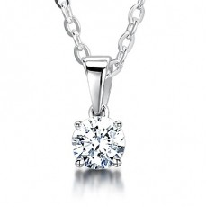 4 Prong Setting Solitaire Pendant (Available from 0.10ct. to 2.00ct.)