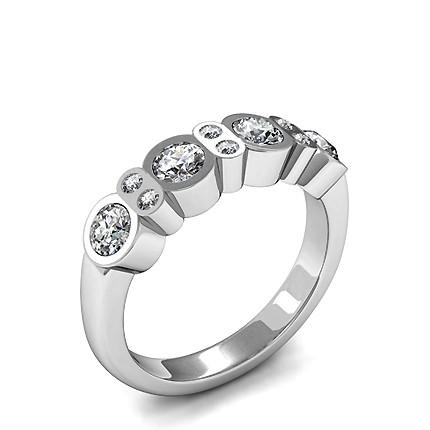 Runder Diamant Mode Ring in einer Krappenfassung