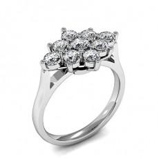 Prong Setting Round Diamond Cluster Ring - HMTR067_01