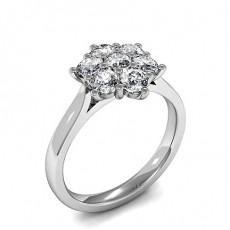 Prong Setting Round Diamond Cluster Ring - HMTR290_01