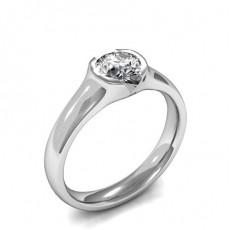 Diamant Verlobungsring in einer halben Zargenfassun