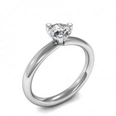 Bague de fiançailles solitaire diamant rond serti 3 griffes - HMSR550_01