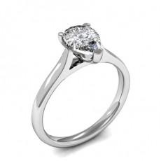 Bague de fiançailles solitaire diamant poire serti 3 griffes - HMSR614_01