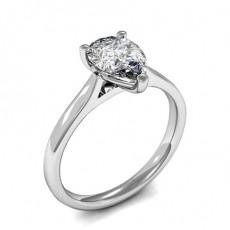 Bague de fiançailles solitaire diamant poire serti 3 griffes - HMSR712_01