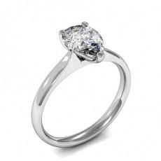 Bague de fiançailles solitaire diamant poire serti 3 griffes - HMSR726_01